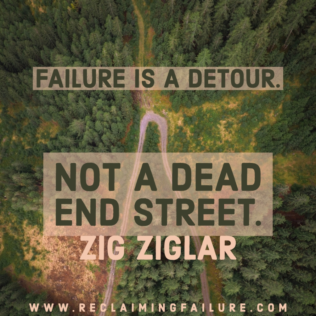 Failure is a detour, not a dead-end street.	Zig Ziglar